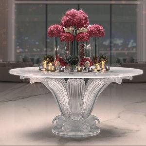 center table flowers 3D