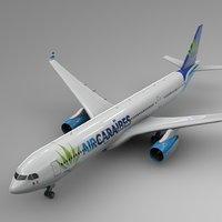 3D airbus a330-300 air caraibes