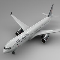 airbus a330-300 air canada 3D model
