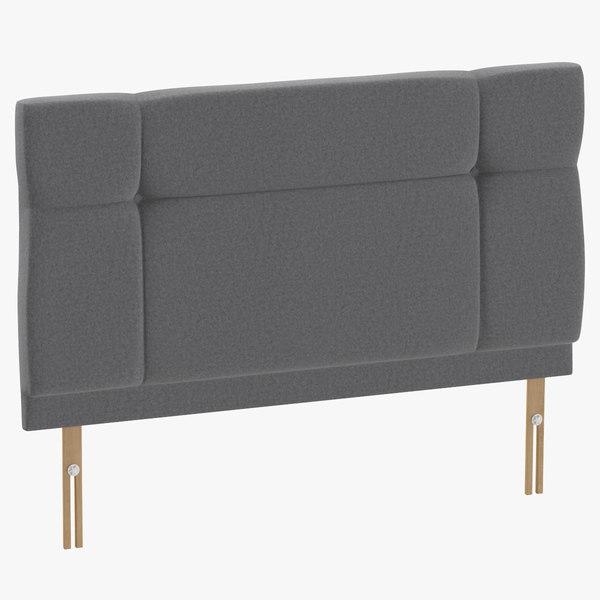 headboard 13 grey 3D model