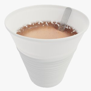 3D plastic coffee cup model