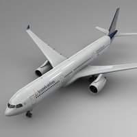3D airbus a330-300 brussels airlines