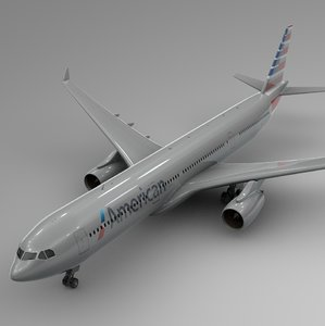 airbus a330-300 american airlines 3D model