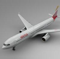 airbus a330-300 iberia l334 3D