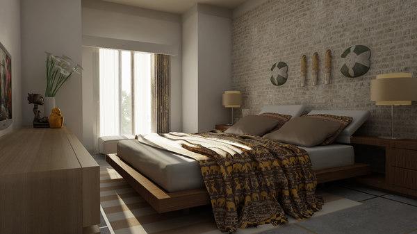 luxury bedroom 3D