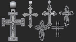 jewellery crosses 3D model