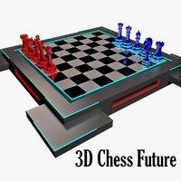 chess future 3D model