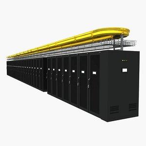 3D server cabinet