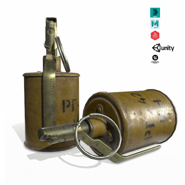rg-42 grenade 3D model