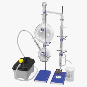 terpene distillation laboratory set model