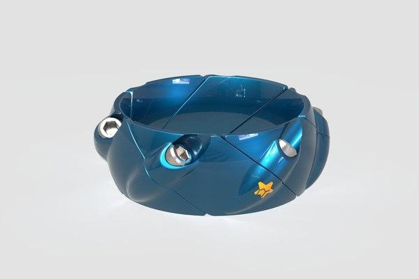 3D model ring bolts rhinoceros
