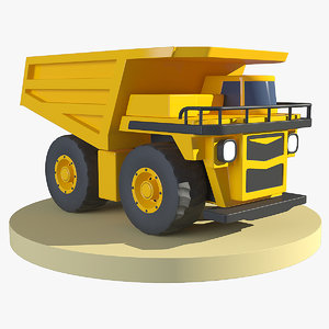 3D model cartoon haul truck mining