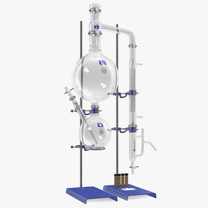 steam distillation laboratory kit 3D model