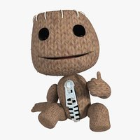 Sackboy character from game rigged