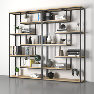 bookcase loft book 3D model