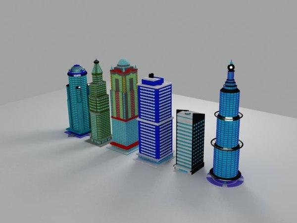 3D building architecture model