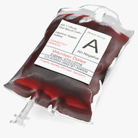 iv blood bag 3D model