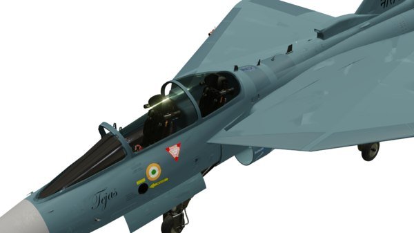 hal tejas fighter navy 3D model