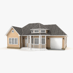 two-story cottage 82 3D model