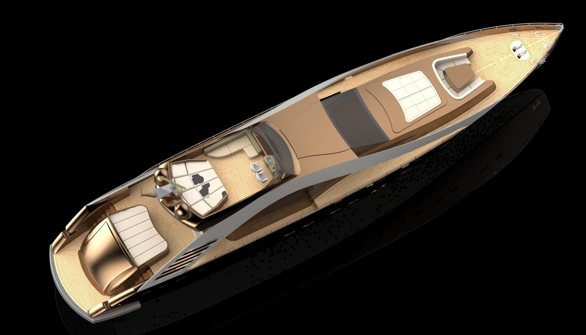 3D super yacht conceptional