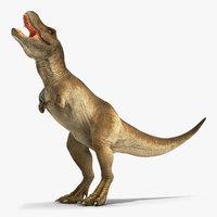 tyrannosaurus rex eating animal 3D