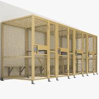 3D model jail cell