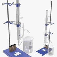 3D lab flask stand