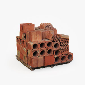 3D model brick pallet