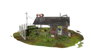 3D abandoned petrol model