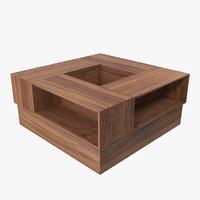 3D table modeled model