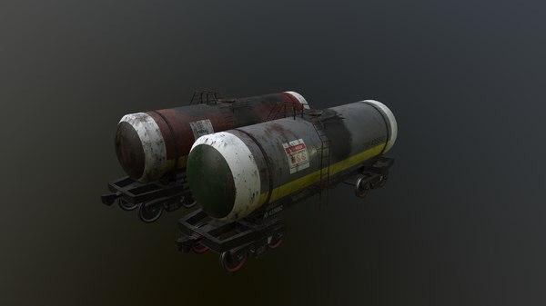 railway cistern 3D model
