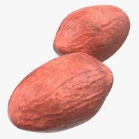 3D peeled peanut nuts