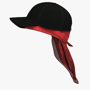 du-rag black cap 3D model