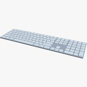 3D keyboard apple wireless model