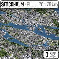 stockholm area urban 3D model