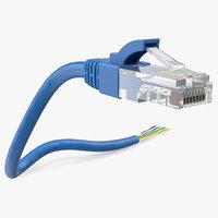 rj45 cable cut 3D