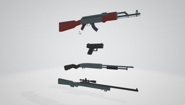 weapons pistol 12 model