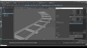 Maya Railway Builder