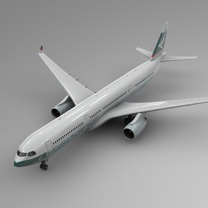 3D model airbus a330-300 cathay paciffic