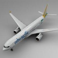 3D airbus a330-300 cebu paciffic