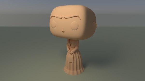 3D custom pop frida kahlo
