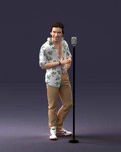 retro singer 3D