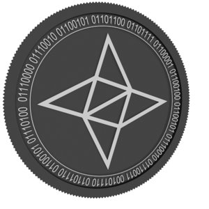 nebulas black coin 3D model