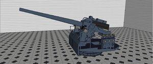 5 inch 38 caliber 3D model