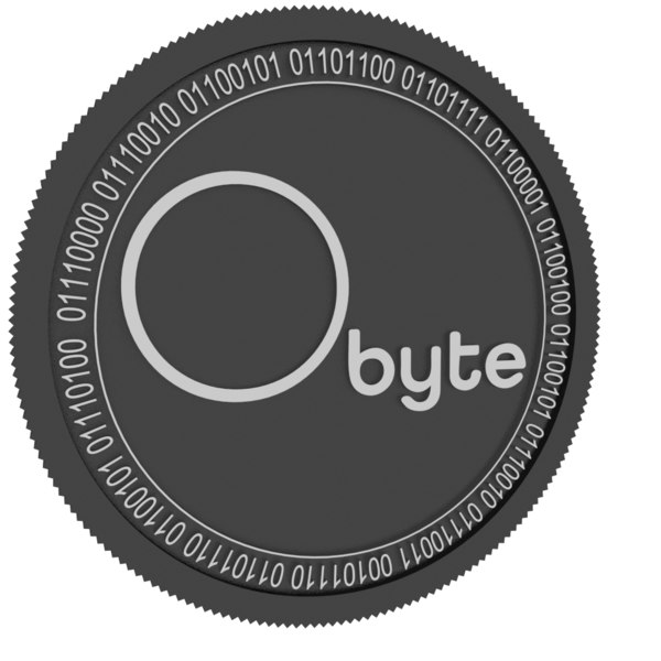 3D obyte black coin