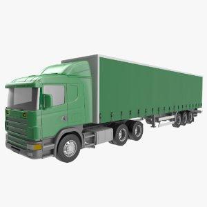 3D model truck trailer