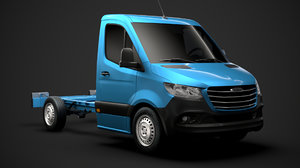 freightliner sprinter chassis single 3D model