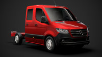 mercedes sprinter chassis crew 3D model