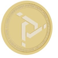 proton gold coin token 3D model