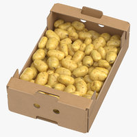 Cardboard Display Box 02 with Clean Potatoes Game Ready